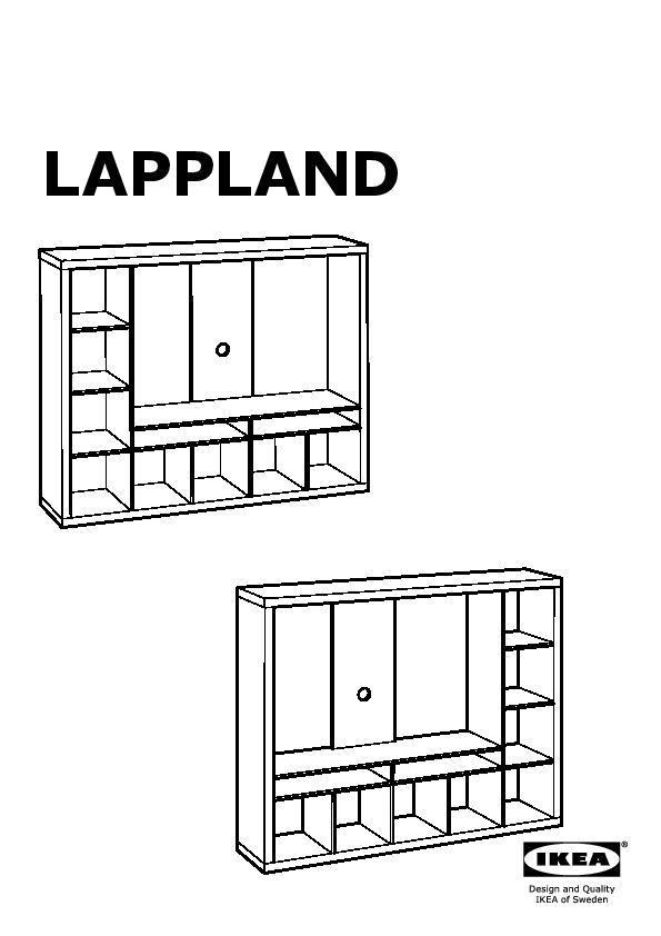 Lappland Meuble Tv Blanc Ikea France Ikeapedia
