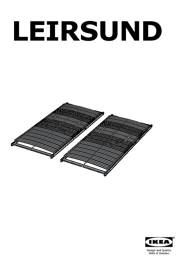 Brusali struttura letto marrone leirsund ikea italy ikeapedia - Ikea letto brusali ...