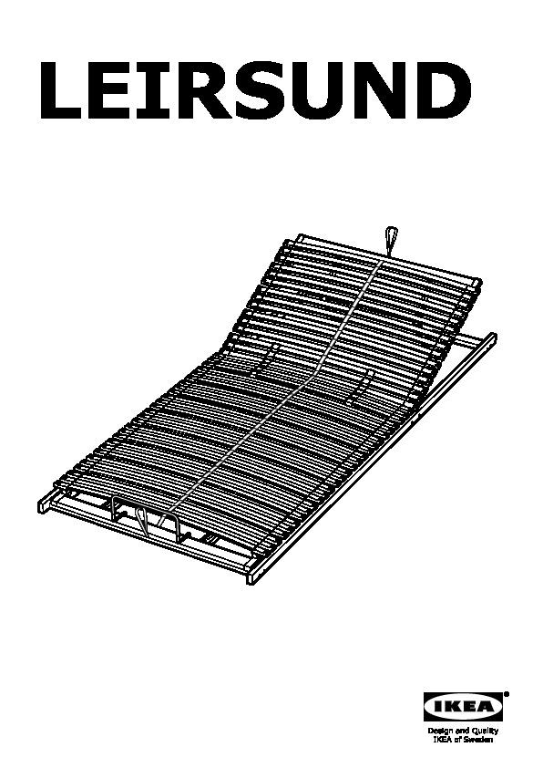 leirsund sommier lattes r glable ikea france ikeapedia. Black Bedroom Furniture Sets. Home Design Ideas