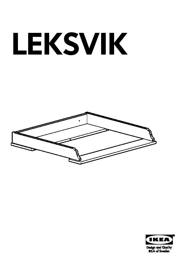 Leksvik plateau pour table langer vernis effet anc ikea france ikeapedia - Plateau a langer pour commode ...