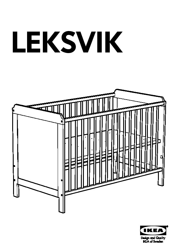lit bebe ikea leksvik notice. Black Bedroom Furniture Sets. Home Design Ideas