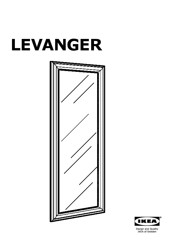 levanger miroir couleur or  ikea france