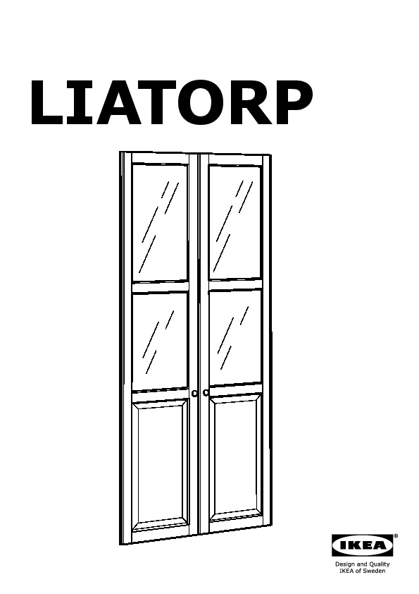 liatorp biblioth que vitr e ikea france ikeapedia. Black Bedroom Furniture Sets. Home Design Ideas