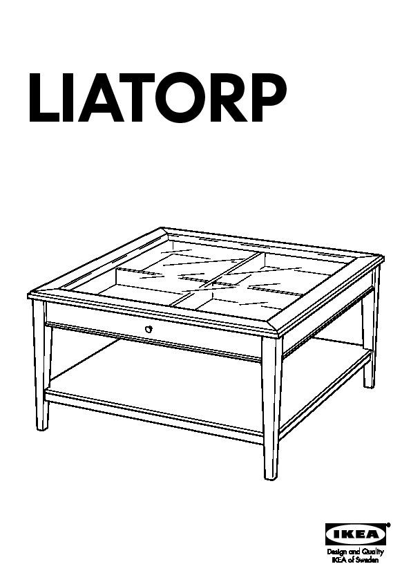 liatorp table basse blanc verre ikea france ikeapedia. Black Bedroom Furniture Sets. Home Design Ideas