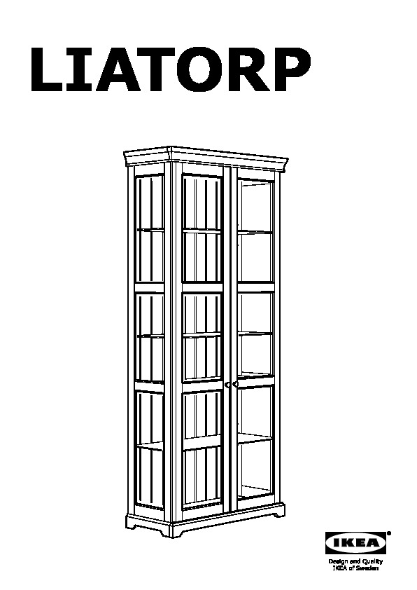 liatorp vitrine blanc ikea france ikeapedia. Black Bedroom Furniture Sets. Home Design Ideas