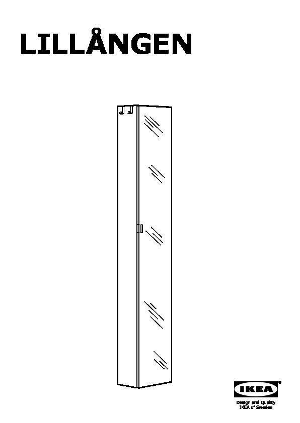 Lillngen High Cabinet With Mirror Door Black Brown Ikea United