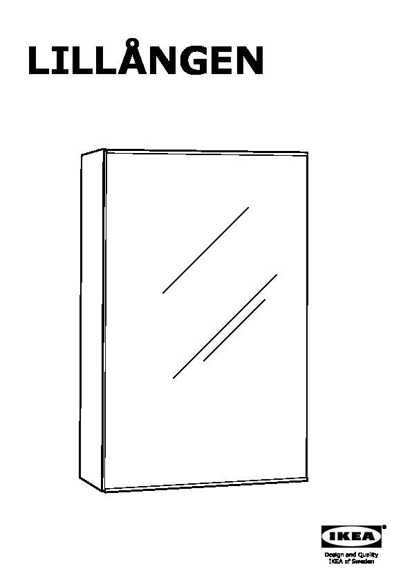 Lill ngen mobile a specchio con 1 anta bianco ikea italy - Lillangen mobile specchio ...