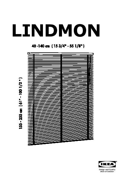 Lindmon Store Vénitien Blanc Ikea France Ikeapedia