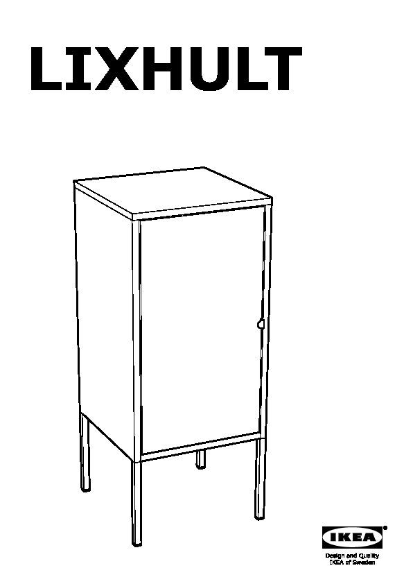 Lixhult Cabinet Metal Red Ikea United Kingdom Ikeapedia