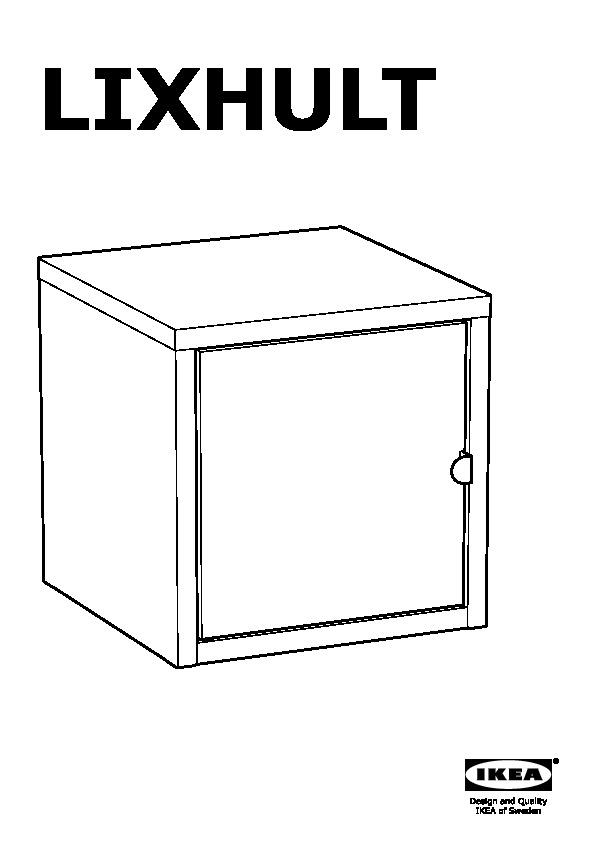Lixhult Storage Combination Orange Yellow Grey Ikea