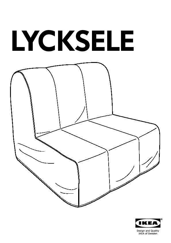 lycksele h vet chauffeuse convertible hen n bleu ikea france ikeapedia. Black Bedroom Furniture Sets. Home Design Ideas