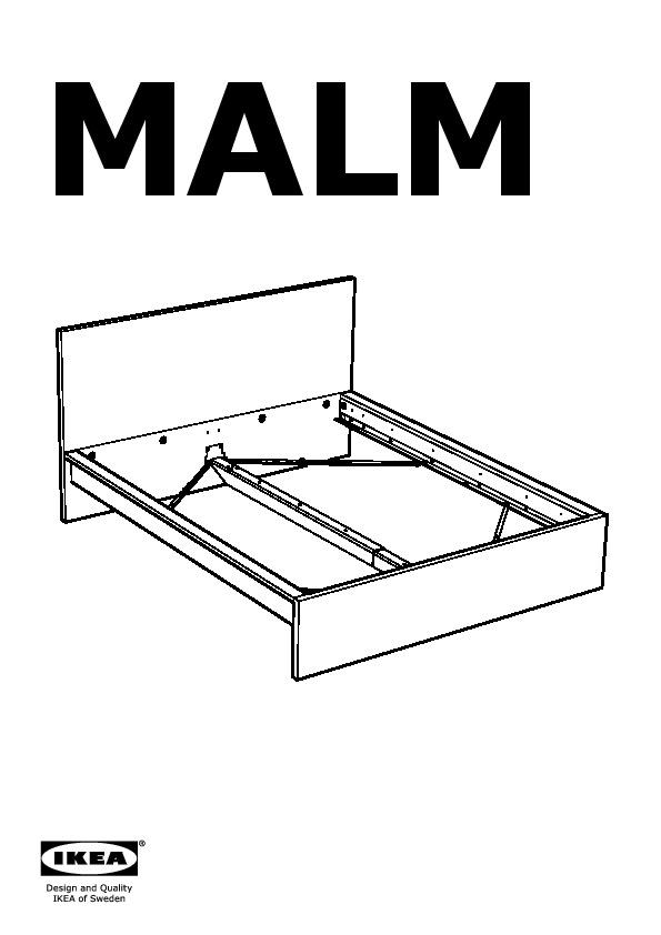 Malm Bed Frame High Black Brown L Nset Ikea United
