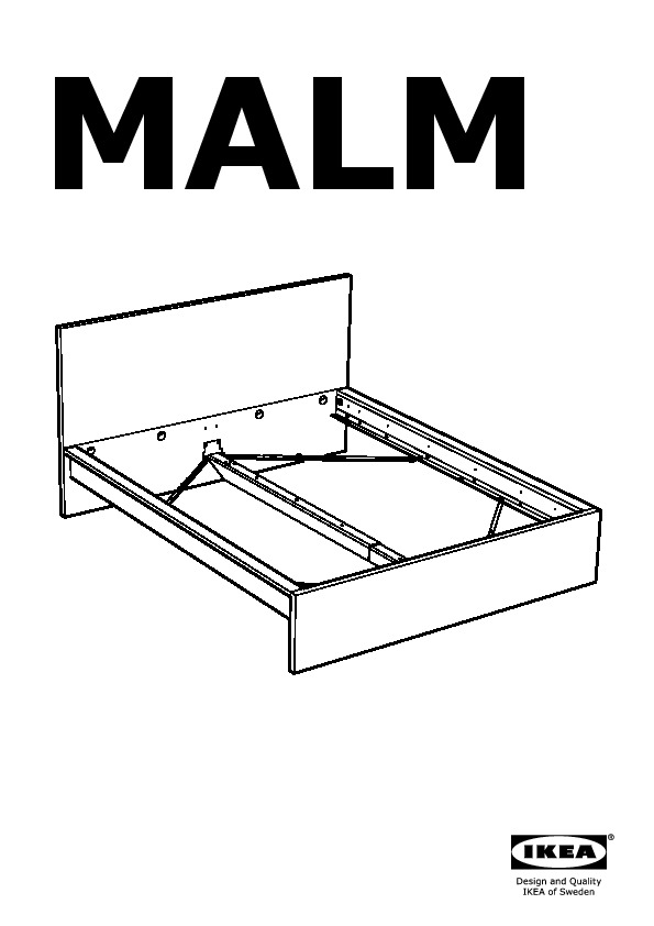 Malm Bed Frame High W 4 Storage Boxes Brown Stained Ash Veneer