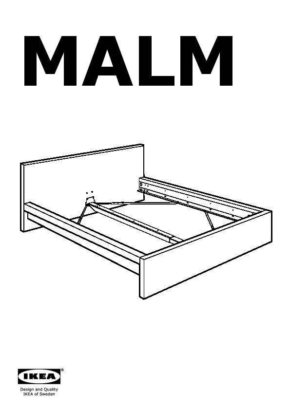 Malm Bed Frame Low Black Brown Leirsund Ikea United