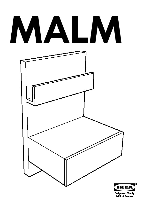Malm table chevet brun noir ikea france ikeapedia for Table de chevet malm chene blanchi