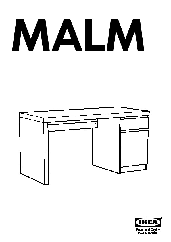 malm bureau brun noir ikea france ikeapedia. Black Bedroom Furniture Sets. Home Design Ideas