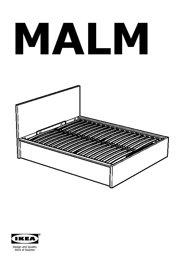 Malm Cadre Lit Rangement Blanc Ikea France Ikeapedia