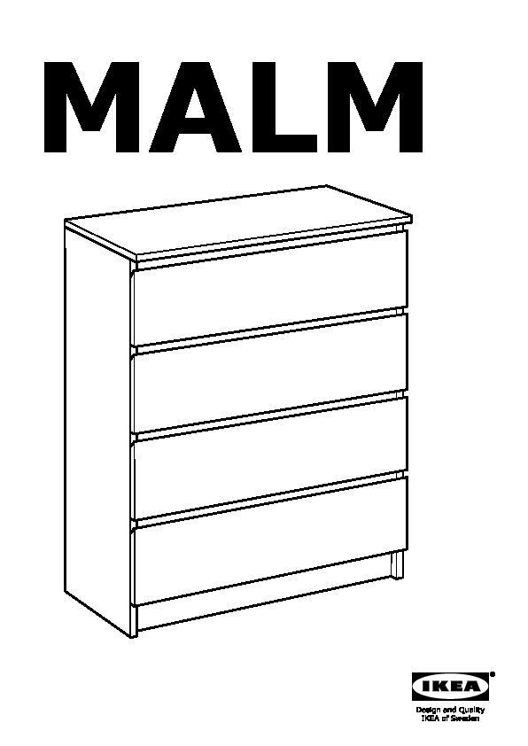 Malm Cassettiera 4 Cassetti.Malm Cassettiera Con 4 Cassetti Bianco Ikea Italy Ikeapedia