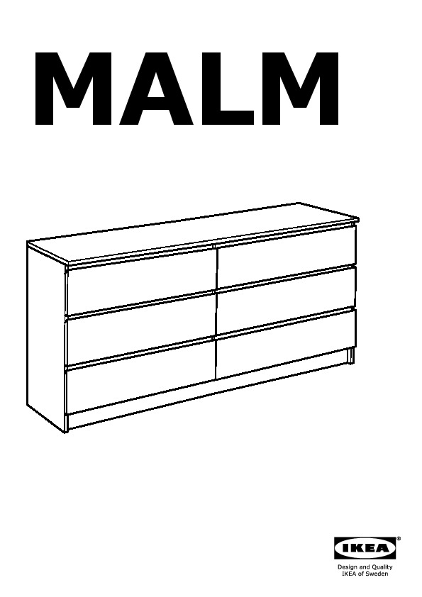 Cassettiera Ikea Malm 6 Cassetti Rovere.Malm Cassettiera Con 6 Cassetti Impiallacciato Rovere Mord Bianco