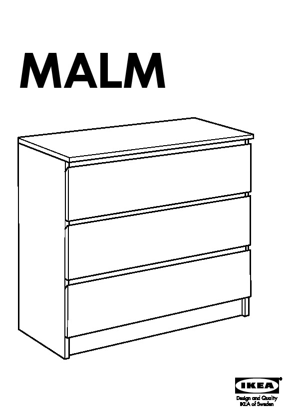 malm commode 3 tiroirs brun noir ikea france ikeapedia. Black Bedroom Furniture Sets. Home Design Ideas