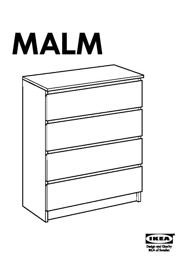 Malm Commode 4 Tiroirs Blanc Ikea France Ikeapedia