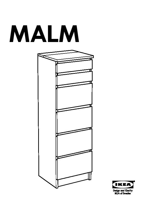 Malm Commode 6 Tiroirs Blanc Miroir Ikea France Ikeapedia