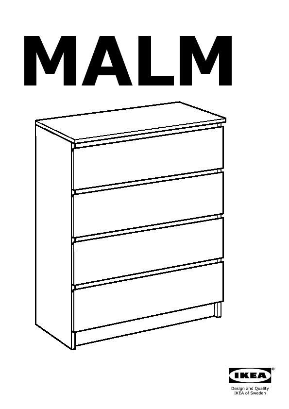 Malm commode 4 tiroirs blanc ikea france ikeapedia for Malm commode 4 tiroirs