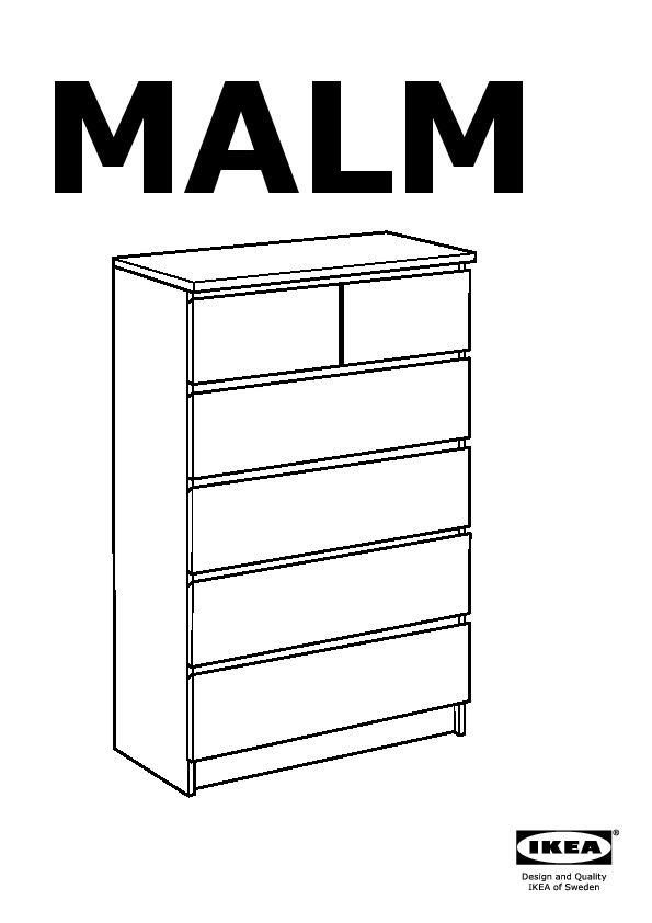 Malm Commode 6 Tiroirs Chene Blanchi Ikea France Ikeapedia