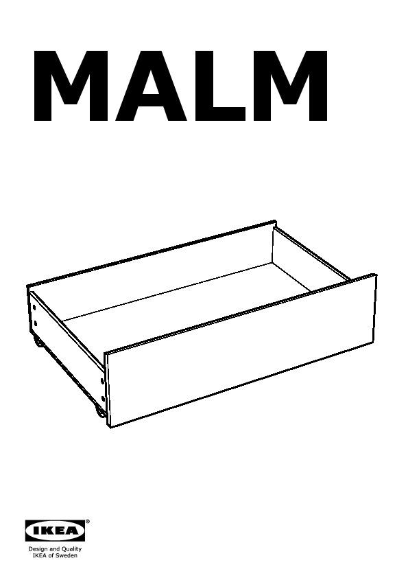 Malm struttura letto alta 4 contenitori impiallacciatura - Malm letto contenitore ...