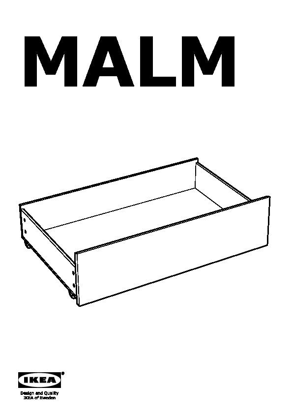 Malm struttura letto alta 4 contenitori marrone nero - Malm letto contenitore ...