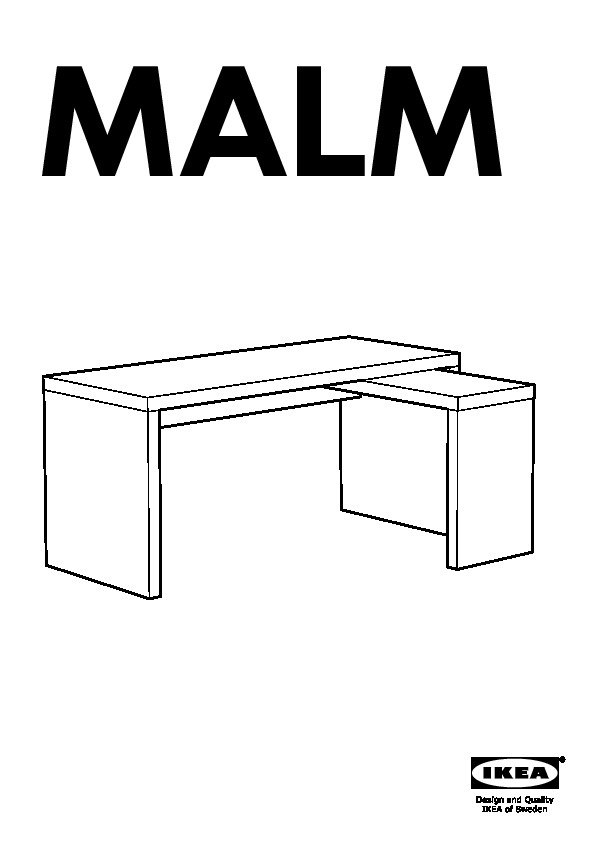 Malm desk with pull out panel oak veneer ikea united kingdom ikeapedia - Tete de lit ikea malm ...