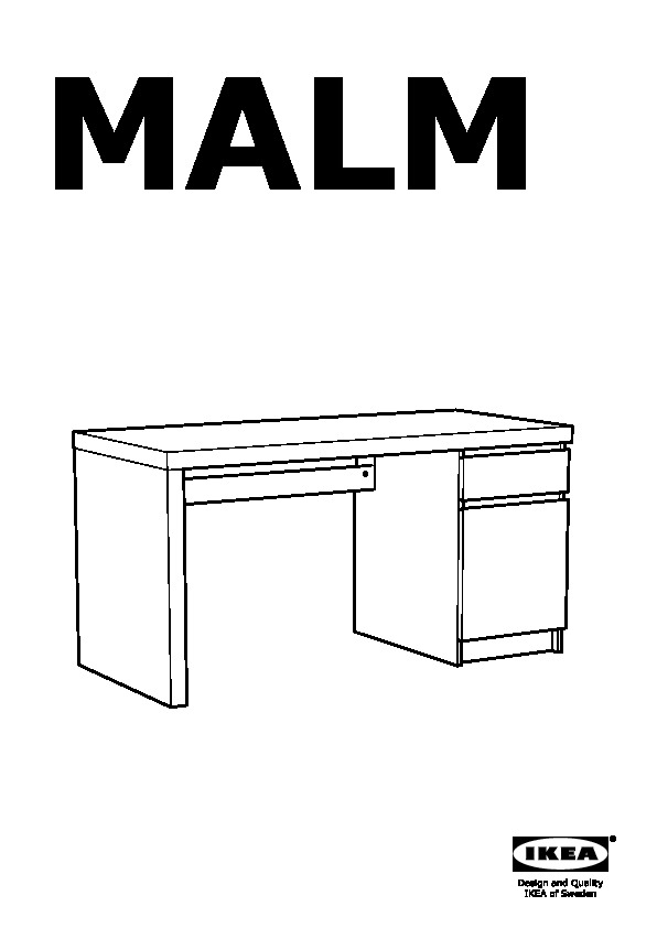 Malm Desk Black Brown Ikea United