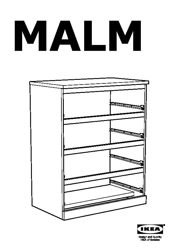 Malm 4 Drawer Chest Black Brown Ikea United States Ikeapedia