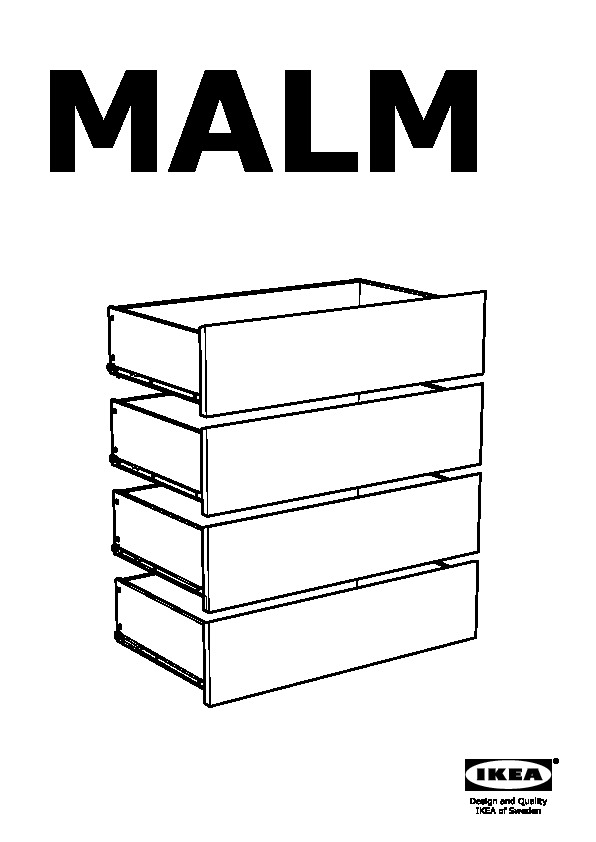 Malm 4 Drawer Chest Black Brown Ikea