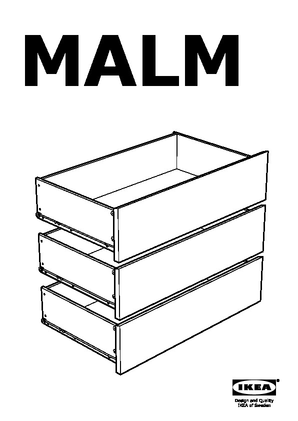 Malm 3 Drawer Chest Black Brown Ikeapedia