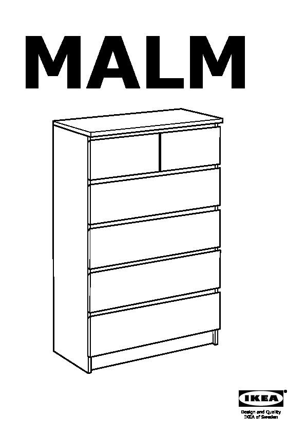 Cassettiera Ikea Malm 4 Cassetti.Malm 6 Drawer Chest White Ikea Canada English Ikeapedia