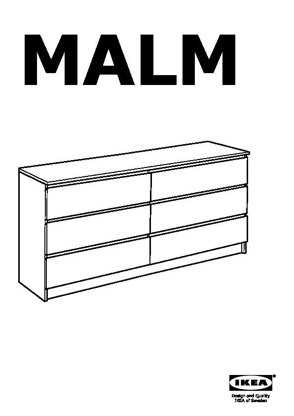 Malm 6 Drawer Dresser White Ikeapedia