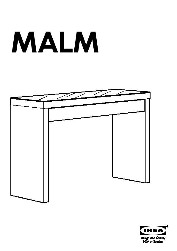 MALM Coiffeuse blanc (IKEA France) - IKEAPEDIA