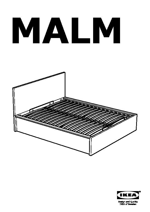 Malm Ottoman Bed White Ikeapedia, Are Ikea Beds Standard Size
