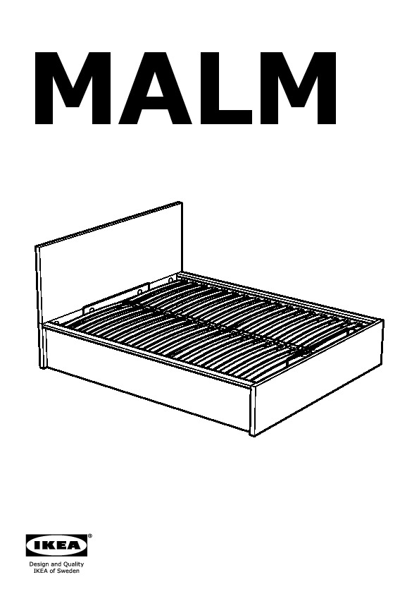Malm Bed Frame With Storage Black Brown Ikea Canada English