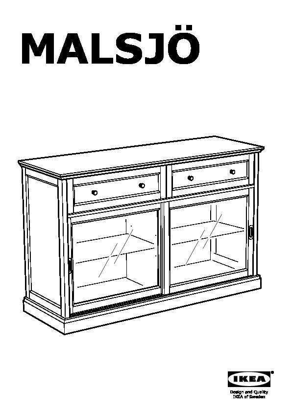 low priced d3b10 2d299 MALSJÖ Sideboard basic unit black stained (IKEA Canada ...