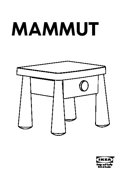 Mammut Table Chevet Rouge Ikea Canada French Ikeapedia