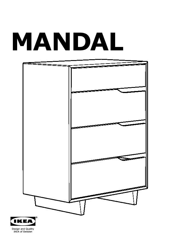 mandal commode 4 tiroirs bouleau blanc ikea france ikeapedia. Black Bedroom Furniture Sets. Home Design Ideas