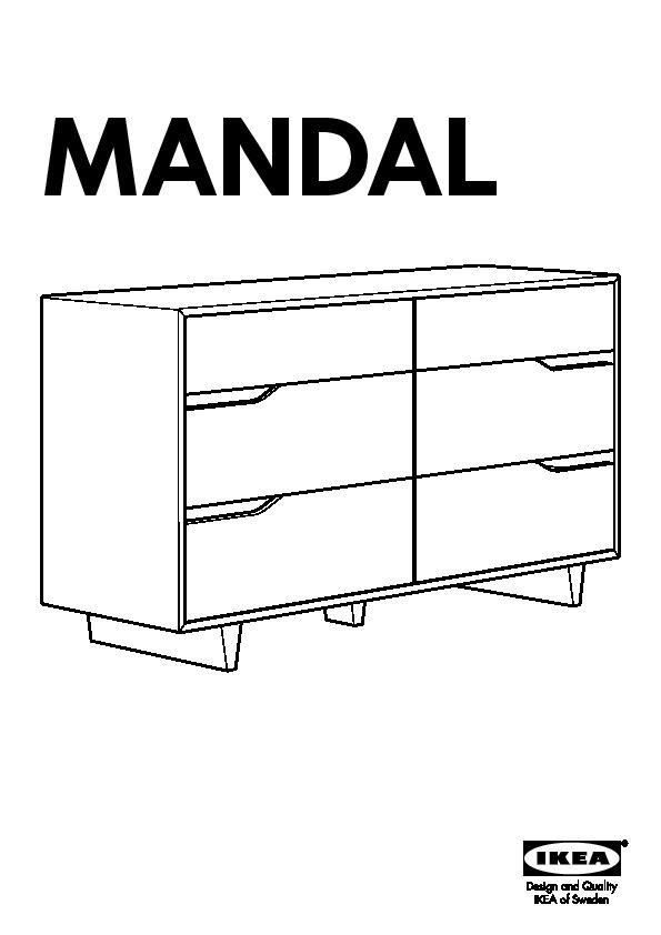 mandal commode 6 tiroirs bouleau blanc ikea france ikeapedia. Black Bedroom Furniture Sets. Home Design Ideas