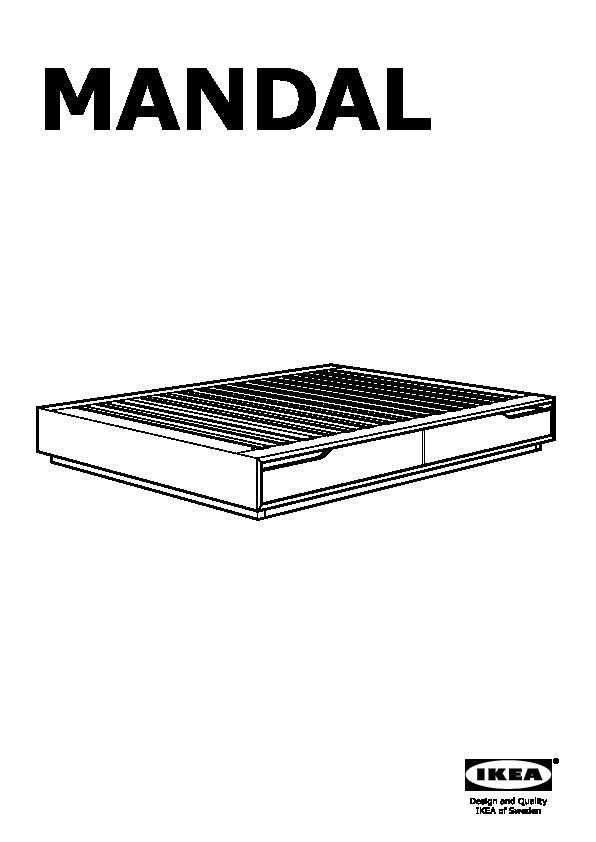 MANDAL Struttura letto con contenitore betulla, bianco (IKEA Italy) - IKEAPEDIA