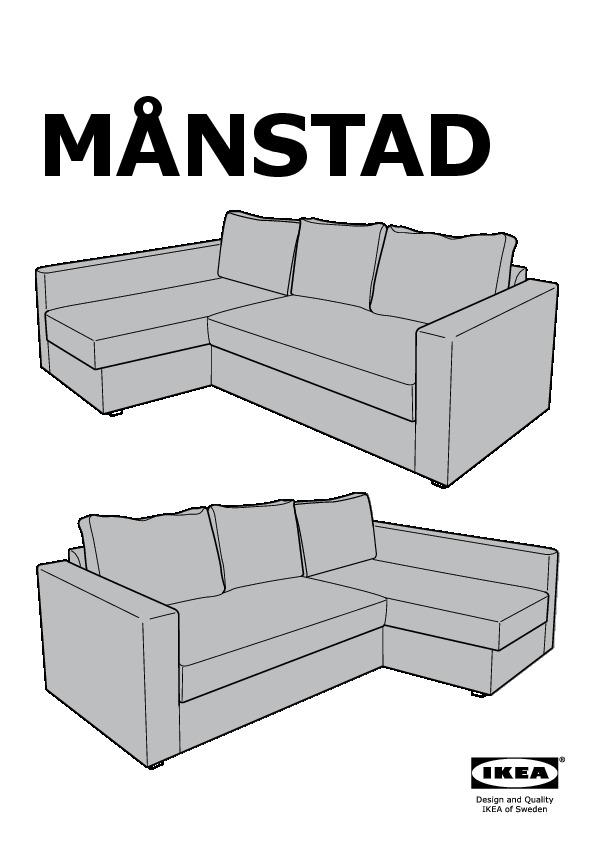 Manstad Convertible D Angle Avec Rangement Gobo Gris Bleu Ikea