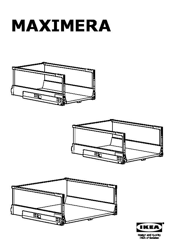 SEKTION Base cabinet with pull-out storage white Maximera