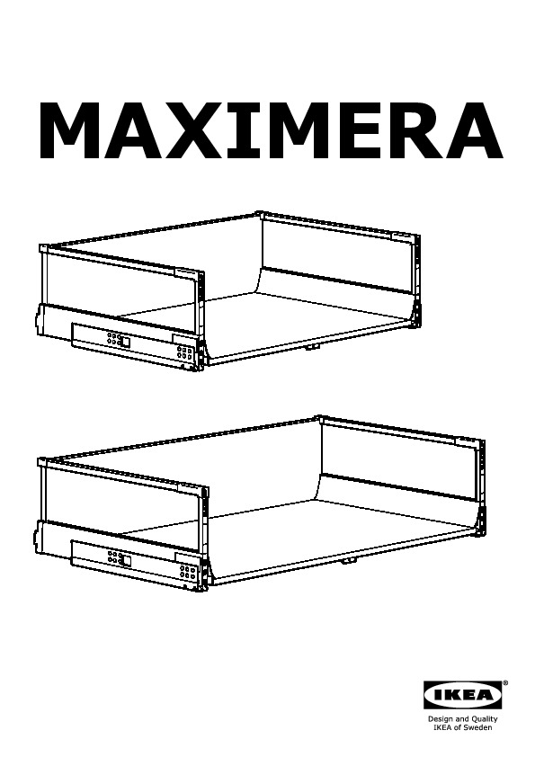 MAXIMERA Drawer, high white (IKEA United States) - IKEAPEDIA