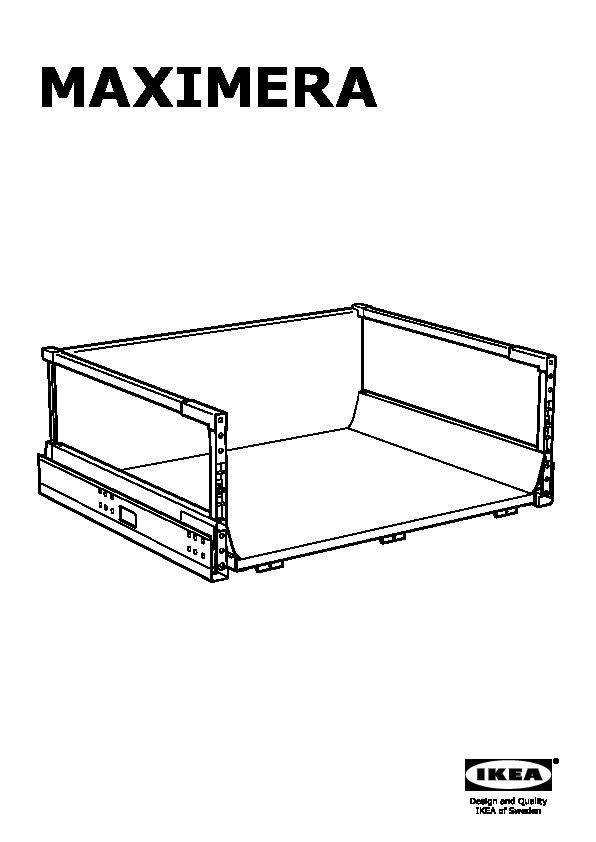 MAXIMERA Drawer, high white (IKEA United Kingdom) - IKEAPEDIA