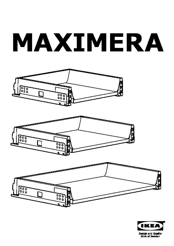 MAXIMERA Drawer, low white (IKEA United States) - IKEAPEDIA